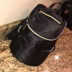 Aimee Kestenberg travel backpack bag black gold